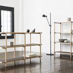 空間に上質なアクセントを生み出す、軽量設計の万能シェルフ「LOG」|nuskool