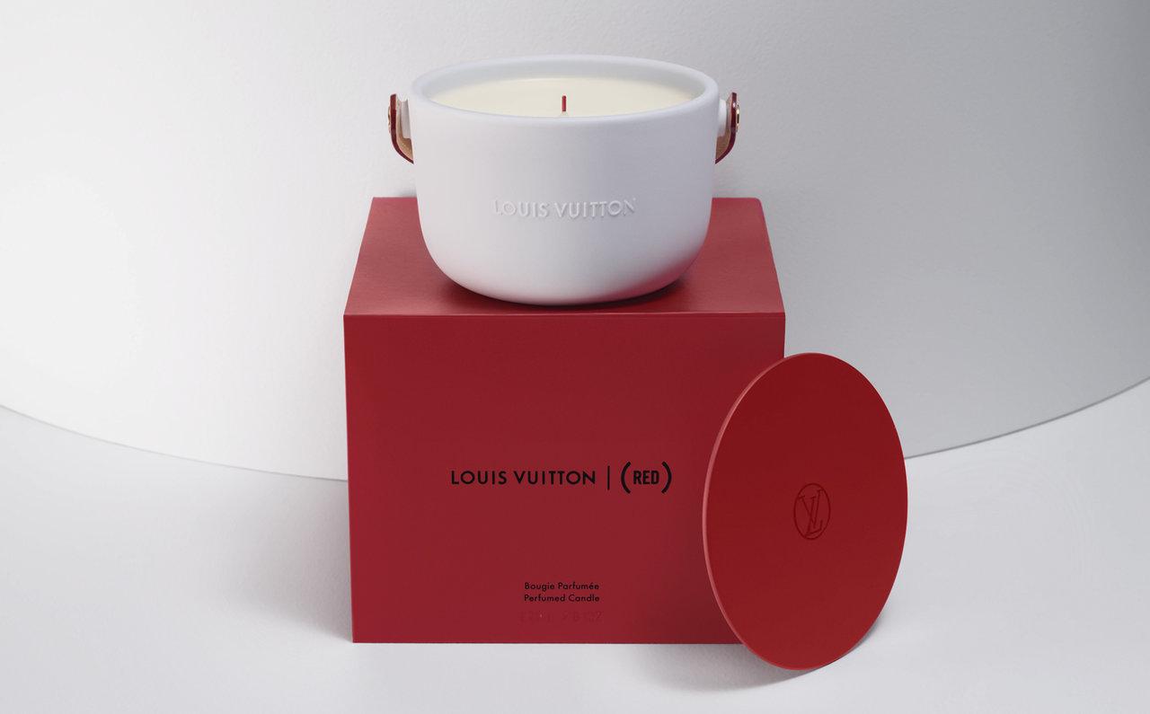 エイズ撲滅運動をサポートするルイ・ヴィトンのパフュームド キャンドル 「LOUIS VUITTON I (RED) 」|LOUIS VUITTON