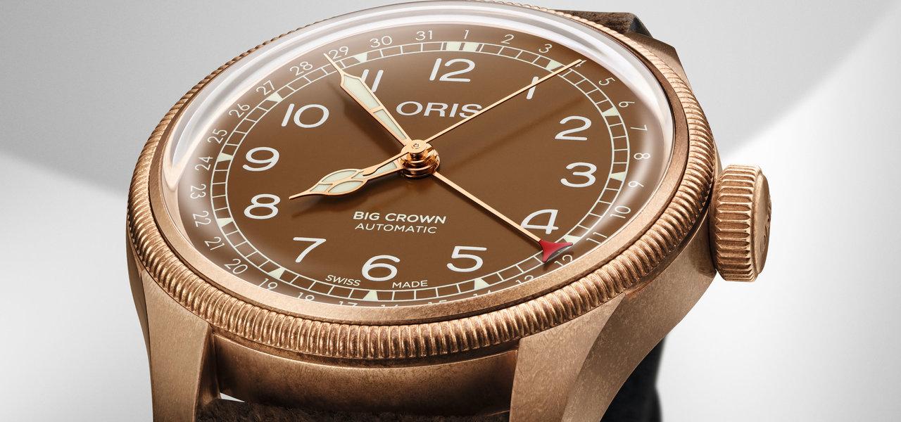 すべてにブロンズを採用した「オリス ビッグクラウン ブロンズ ポインターデイト」|ORIS
