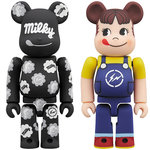 MILKY THE CONVENI PEKO BE@RBRICK / MILKY THE CONVENI MILKY BE@RBRICK 100% & 400%|MEDICOM TOY