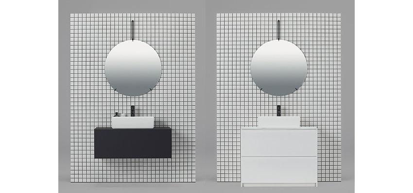 最小限の線と面で構成した洗面下台「リクレール」が発売 sanwacompany