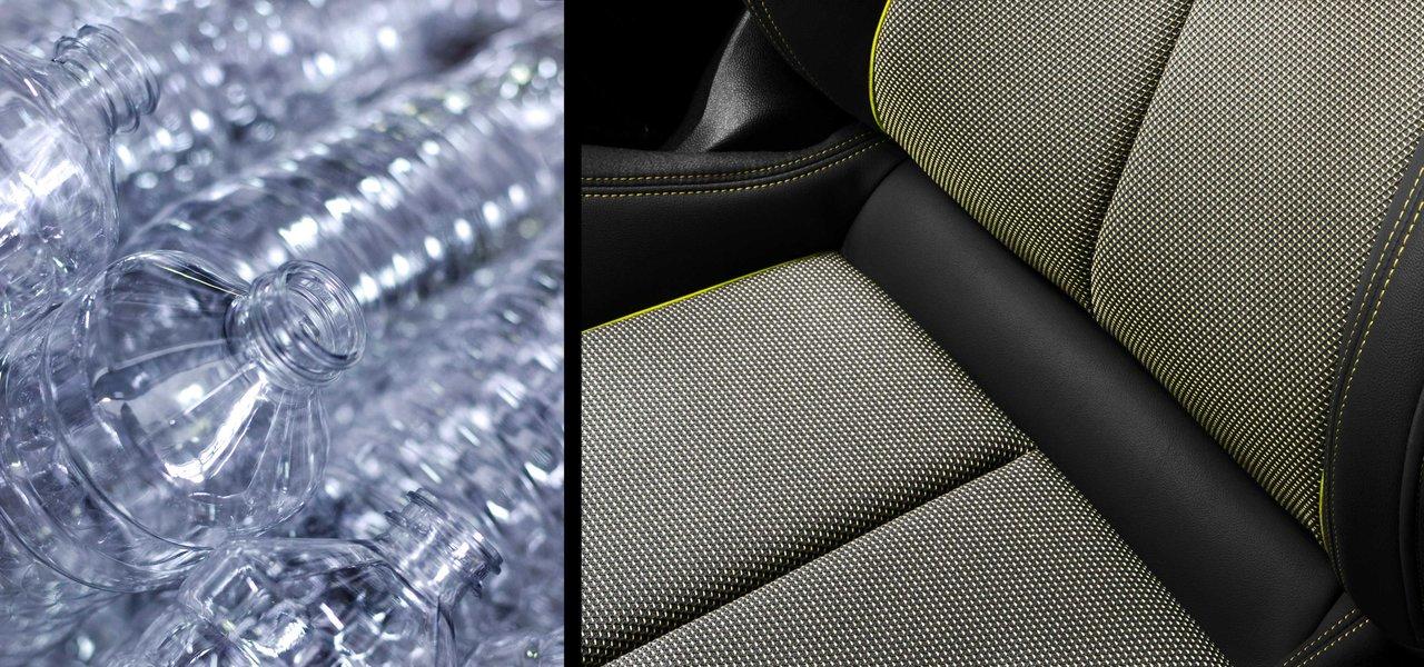 1.5リットル容量を最大45本使用──ペットボトルから作られた新型A3のシートファブリック|Audi