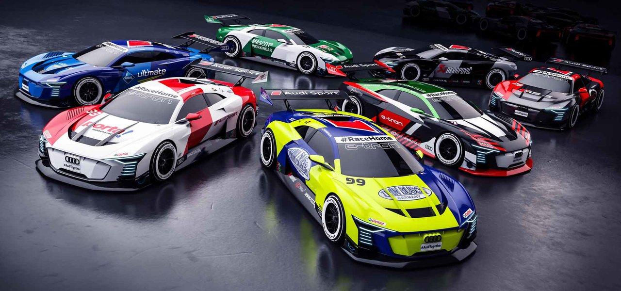 #RaceHomeで本物のレーシングドライバーがゲームのプロフェッショナルと対戦|Audi