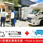 医療従事者の食事や一時休憩スペースを提供する支援活動に協賛|TOYOTA