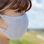 通気性抜群! 「吸水速乾・立体フィット&形状記憶ニットマスク」 noguchi knit