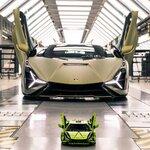 シアン FKP 37を3,696ピースで忠実に再現したレゴモデル|Lamborghini