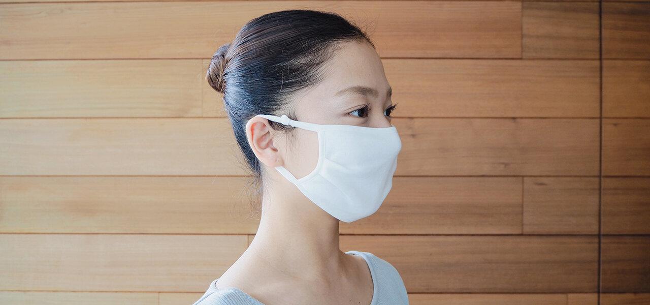 バレエブランドが製作した綿100%の肌に優しい「触感冷感コットンマスク」|Mizuone