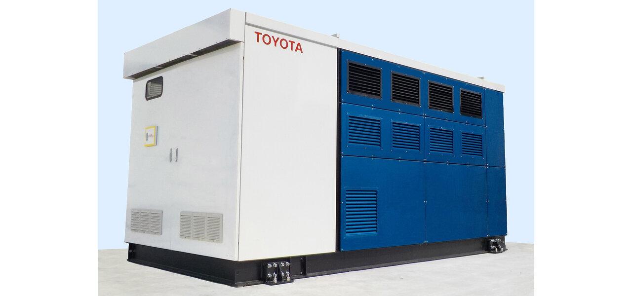 FCV「ミライ」のシステムを活用した燃料電池発電機を開発 TOYOTA