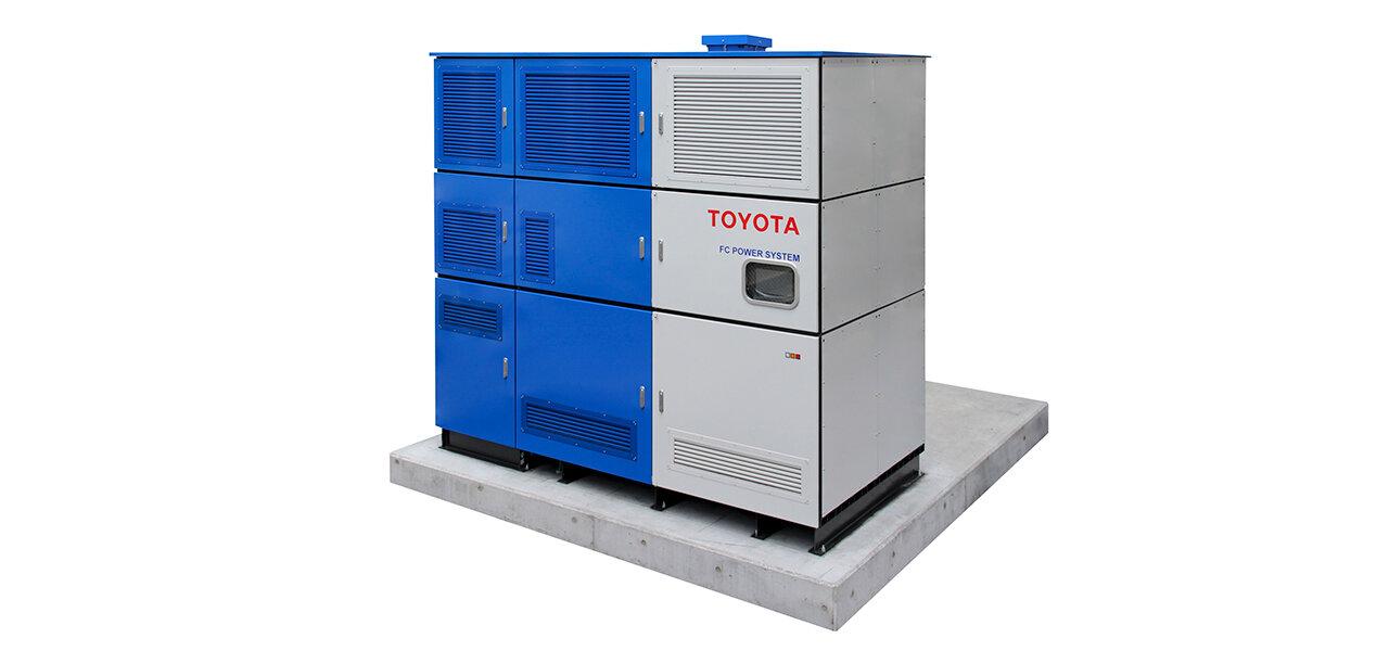 """""""副産物""""の水素とミライのユニットを活用し発電する実証実験をスタート TOYOTA"""
