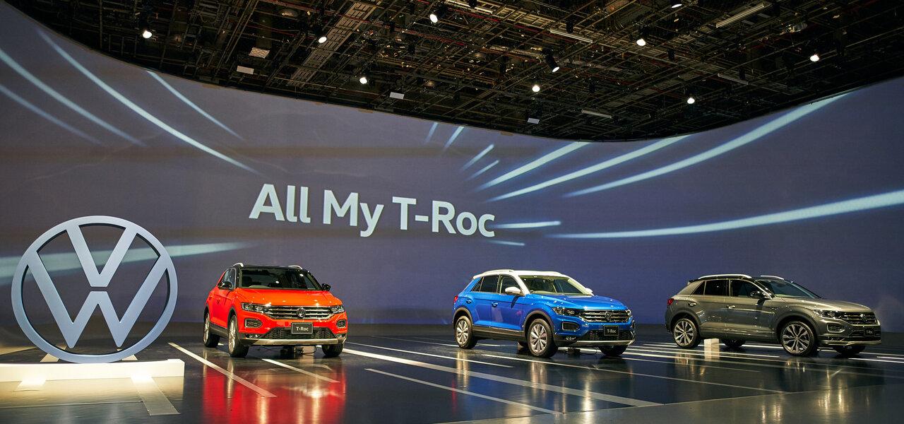 フォルクスワーゲンの新型クロスオーバーSUV「T-Roc」が日本デビュー Volkswagen