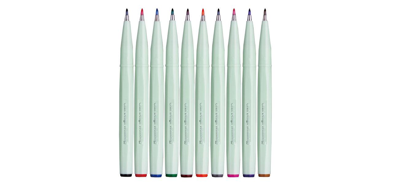 筆タッチサインペンに10色セットが誕生| Craft Design Technology