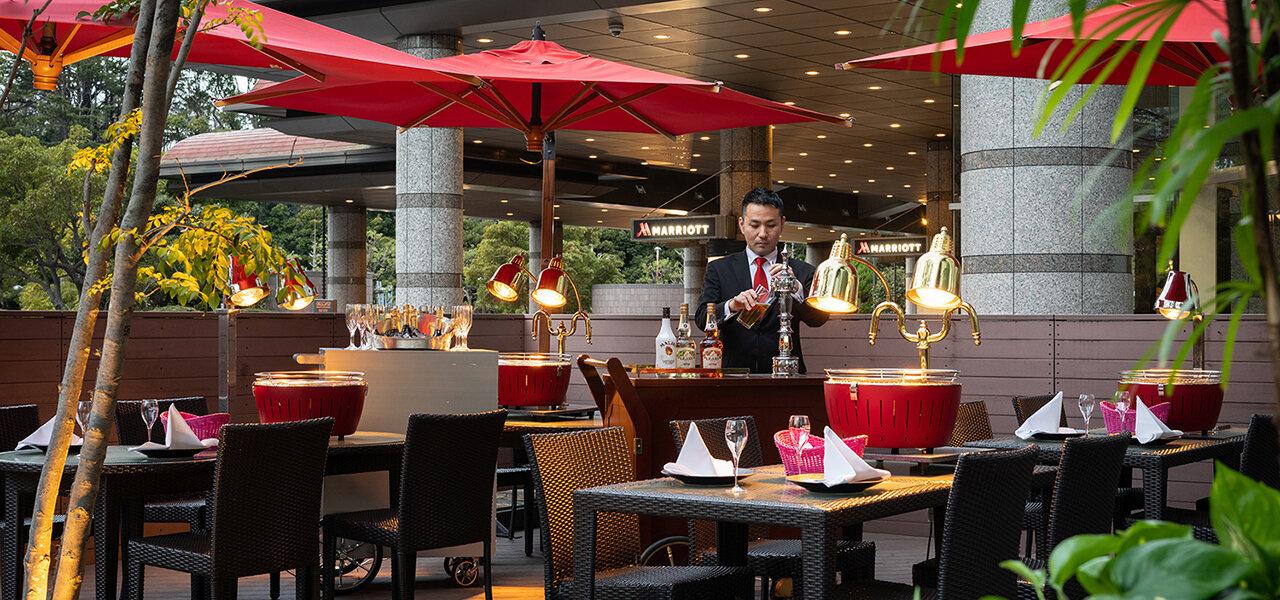 東京マリオットホテルのテラス席で楽しむBBQが登場|TOKYO MARRIOTT HOTEL