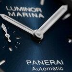 サテン仕上げのブルーダイアルを搭載した新作「ルミノール マリーナ - 44mm」 PANERAI