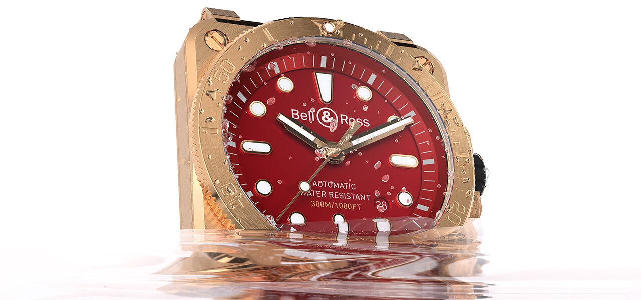 経年変化を楽しむブロンズ素材を用いた「BR 03-92 Diver Burgundy Bronze」 Bell & Ross