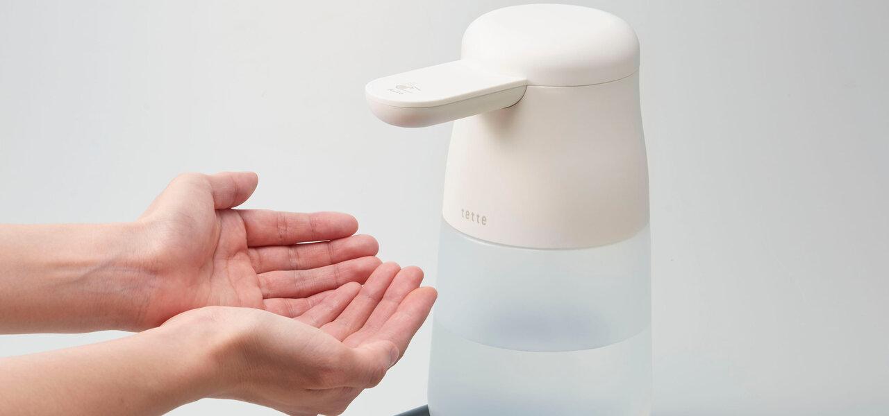 手をかざすと消毒液が噴射される自動手指消毒器に大容量タイプ登場|KING JIM