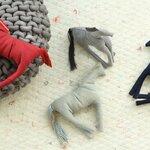 ソファや椅子の端材で作られるoff-cutコレクション|Thomas Eyck