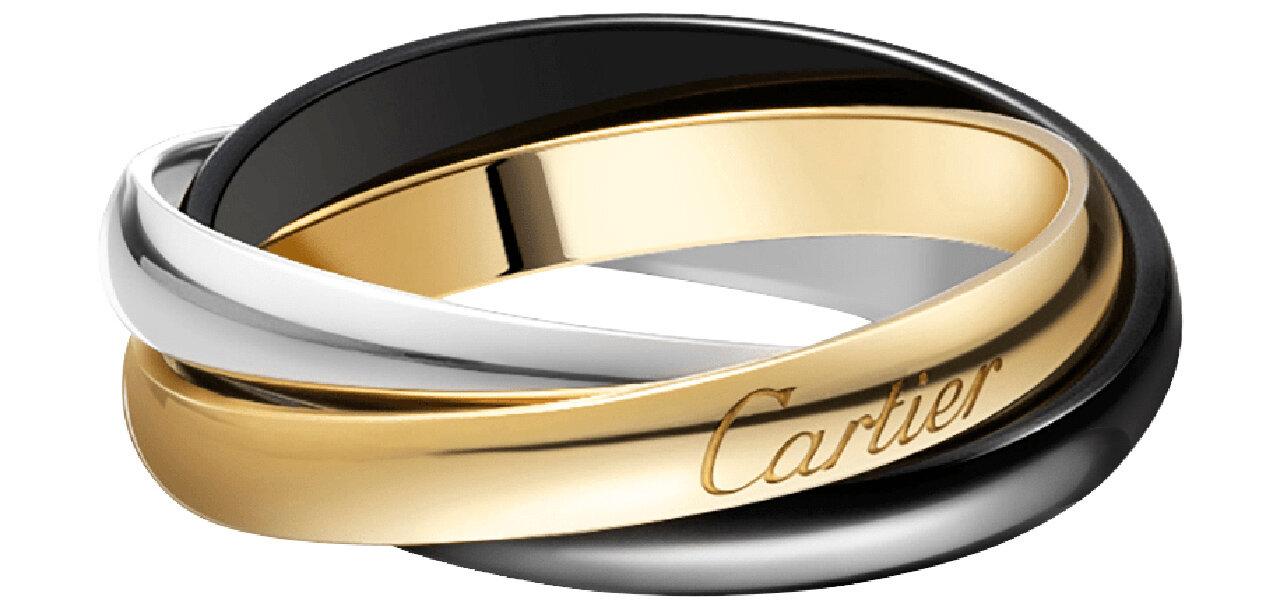 ブラックセラミックで個性を演出するホリデーシーズン限定「トリニティ ドゥ カルティエ リング」|CARTIER