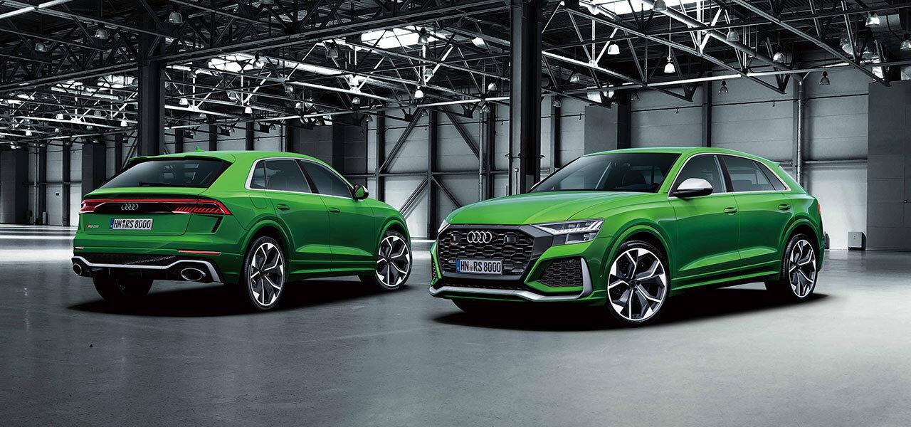 アウディのフラッグシップSUV「Q8」によりスポーティなRSモデルを追加|Audi