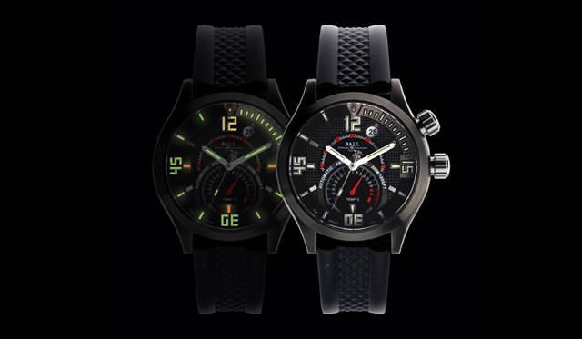 <strong>Ball Watch|ボール・ウォッチ</strong> エンジニアマスター&#08545; ダイバーTMT。暗闇でも明るく自発光するマイクロガスライトをインナーベゼルに41個も装備。針やインデックスを含めると全体で53個のマイクロガスライトを使用。