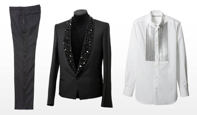祐真朋樹|CRYSTALLIZED&#8482;-Swarovski Elements</br>John Lawrence Sullivan|TUXEDO TROUSERS、 SPENCER JACKET、TUXEDO SHIRT