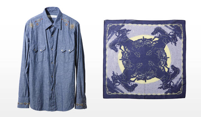 祐真朋樹|CRYSTALLIZED&#8482;-Swarovski Elements</br>Inpaichthys Kerri|DENIM CHAMBRAY WESTERN SHIRT 、MIDNIGHT COWBOY BANDANA