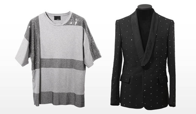 祐真朋樹|CRYSTALLIZED&#8482;-Swarovski Elements</br>3.1 Philip Lim|OVERSIZED SHORT SLEEVE T-SHIRT、HAND TAILORED SHAWL COLLAR JACKET