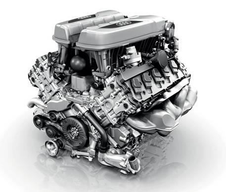 <strong>AUDI R8 SPYDER|アウディ R8 スパイダー</strong><br>高回転型 FSI 5.2リッター直噴 V10 ユニット