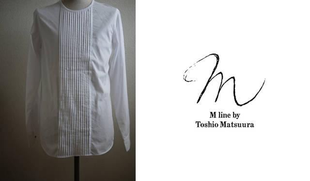 <strong>M line|エム・ライン</strong> 日常生活にさらりと取り入れられるカジュアルなデザインが人気のM lineのシャツシリーズにプリーツがほどこされたドレスシャツが登場。日常にさりげなくエレガンスを取り入れて。 プリーツシャツ 2万4675円(エム・ライン)