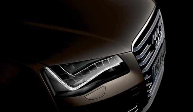 <strong>Audi A8|アウディ A8</strong> 立体感を強調したという新世代のフロントグリル。