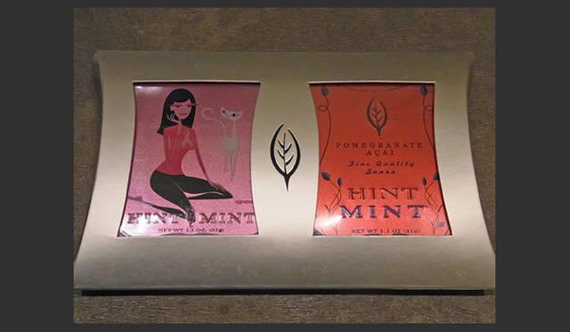 <strong>SAKURA|第8回 ハッピーピンクアイテムいろいろ♪</strong> 毎年、限定のアーティストコラボレーションのパッケージの「ヒントミント」もお洒落。