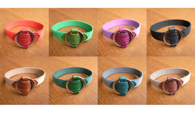 <strong>GLENROYAL│グレンロイヤル</strong> カラーはダイアリーカバー同様に計8色を展開する。 Mサイズ 3675円、Lサイズ 3990円