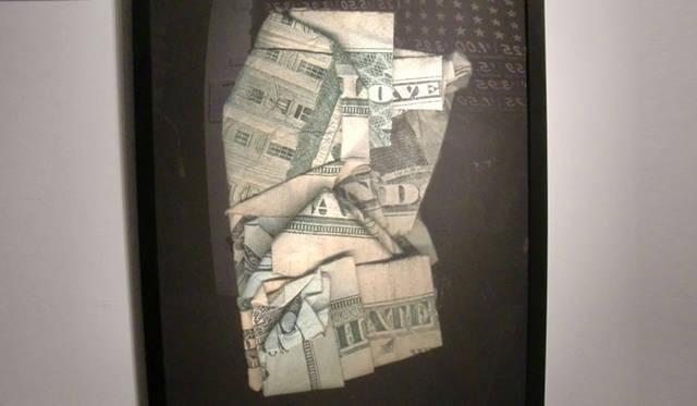 <strong>マシュー的、「Art Basel Miami 2010」レポート</strong> お金を用いたアート作品。