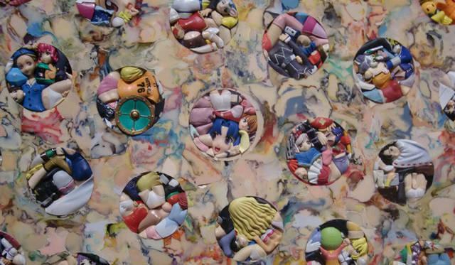 <strong>マシュー的、「Art Basel Miami 2010」レポート</strong> 「THREE」 の作品のディテール。