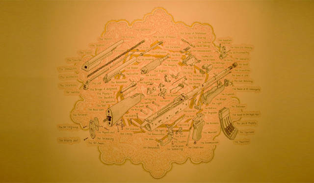 <strong>マシュー的、「Art Basel Miami 2010」レポート</strong> アメリカ人アーティスト、Sandow Birkの作品。