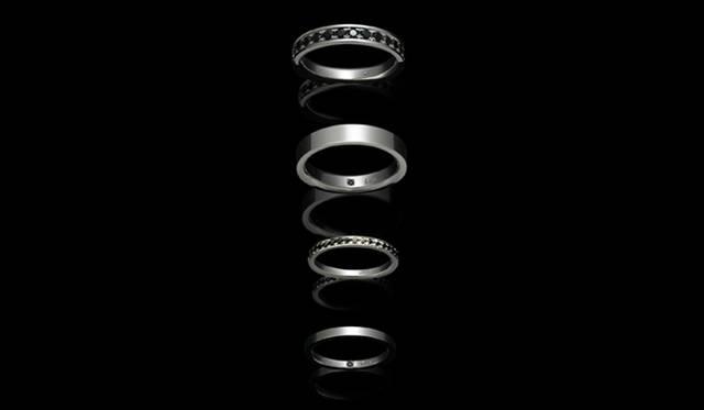 <strong>JAM HOME MADE|ジャム ホーム メイド</strong> 「CUTLESS MARIAGE RING(カットレス マリッジリング)」 上から17万3250円、10万5000円、12万750円、6万8250円