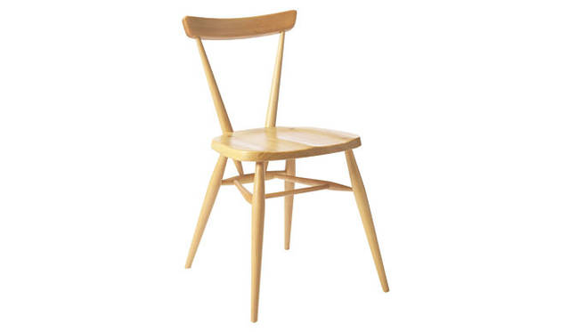 <strong>MARGARET HOWELL HOUSEHOLDGOODS|マーガレット・ハウエル ハウスホールドグッズ</strong> ERCOL「STACKING CHAIR」NATURAL 6万7200円→5万9850円、WHITE 8万7150円→7万9800円(H77×W47×D50cm)