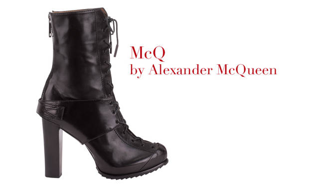 <strong>特集|2011-12年秋冬トレンドシューズはこれ! Chapter 02:Lace Up<br /><br />McQ by Alexander McQueen|マックキュー バイ アレキサンダー・マックイーン</strong> レースアップシューズ 6万7200円 (マックキュー バイ アレキサンダー・マックイーン/M inc Tel. 03-3498-6633)