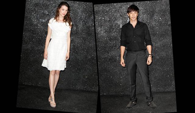 <strong>CHANEL|シャネル 2011-12年秋冬オートクチュールコレクション</strong> 左/アストリッド ベルジュ=フリスベ 、右/俳優の玉木 宏さん。