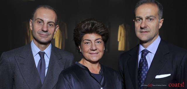 <strong>MaxMara|マックスマーラ</strong> 左から/ルイジ・マラモッティ(MaxMara s.r.l.会長)、マリア・ルドヴィカ・マラモッティ(Manifatture del Nord s.r.l. 会長)、イグナツィオ・マラモッティ(MaxMara Fashion Group s.r.l. 会長)