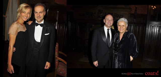 <strong>MaxMara|マックスマーラ</strong> 左から/ニコラ・マラモッティとイグナツィオ・マラモッティ、デザイン並び空間プロデュースを手がけたイーコ・ミリオーレ、マックスマーラ ファッションディレクターのラウラ・ルズアルディ。