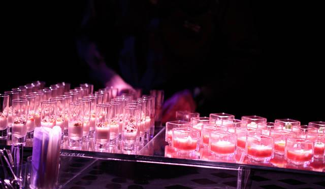 <strong>LEXUS GS|レクサス GS</strong> 「レクサス スピンドル ナイト」会場より。イタリアンレストラン『』アロマフレスカ』の原田慎次シェフによる目にも鮮やかなフィンガーフード