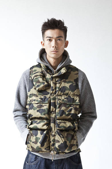 <strong>A BATHING APE&reg;|ア・ベイシング・エイプ&reg;</strong>  A BATHING APE&reg; 2012年春夏メンズコレクション<br>1ST CAMO C-1 DOWN VEST