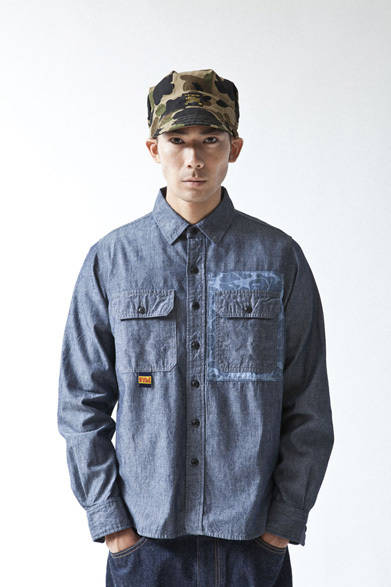<strong>A BATHING APE&reg;|ア・ベイシング・エイプ&reg;</strong>  A BATHING APE&reg; 2012年春夏メンズコレクション<br>ABC CHAMBRAY CRAZY SHIRT