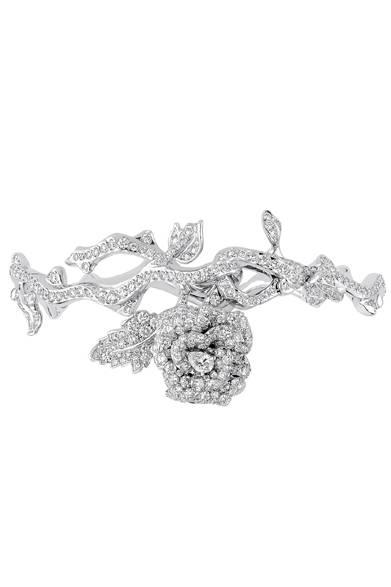 <strong>Dior fine jewelry|ディオール ファイン ジュエリー</strong> 「La Rose Dior Bagatelle(ローズ ディオール バガテル)」 ブレスレット 787万5000円 <br /><br />クリスチャン ディオール<br />Tel. 03-3263-2266