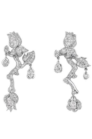 <strong>Dior fine jewelry|ディオール ファイン ジュエリー</strong> 「La Rose Dior Bagatelle(ローズ ディオール バガテル)」 イヤリング 556万5000円<br /><br />クリスチャン ディオール<br />Tel. 03-3263-2266