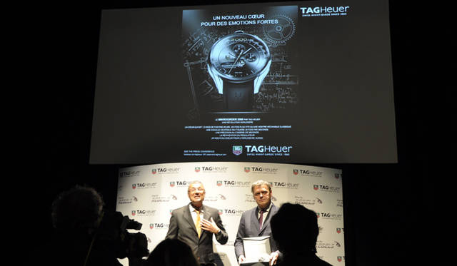 <strong>TAG HEUER|タグ・ホイヤー</strong> 展示会場にて。