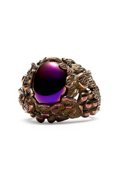 <strong>DIESEL|ディーゼル</strong> 「DIESEL BLACK GOLD×ウーゴ・カッチャトーリ」ジュエリーコレクション リング5万5650円