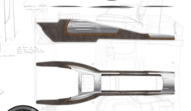 <strong>Rolls-Royce Phantom Coupe Aviator Collection|<br />ロールス・ロイス ファントム クーペ アビエーター コレクション</strong><br />スーパーマリン S6Bの油冷パイプをかたどったというトランスミッショントンネル