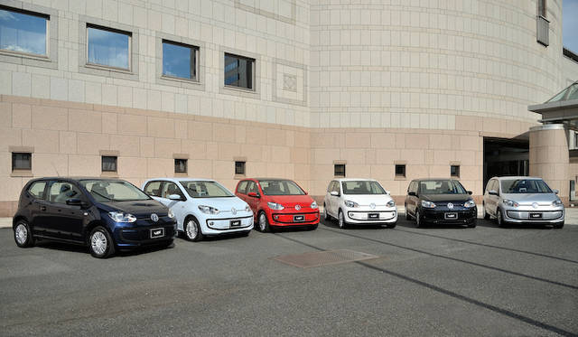 <strong>Volkswagen up!|フォルクスワーゲン アップ!</strong><br />up!はこの、全6色での展開となる