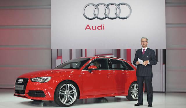 <strong>Volkswagen Group Night|フォルクスワーゲン グループ ナイト</strong><br />アウディのチェアマン Rupert Stadler氏とAudi A3 Sportback